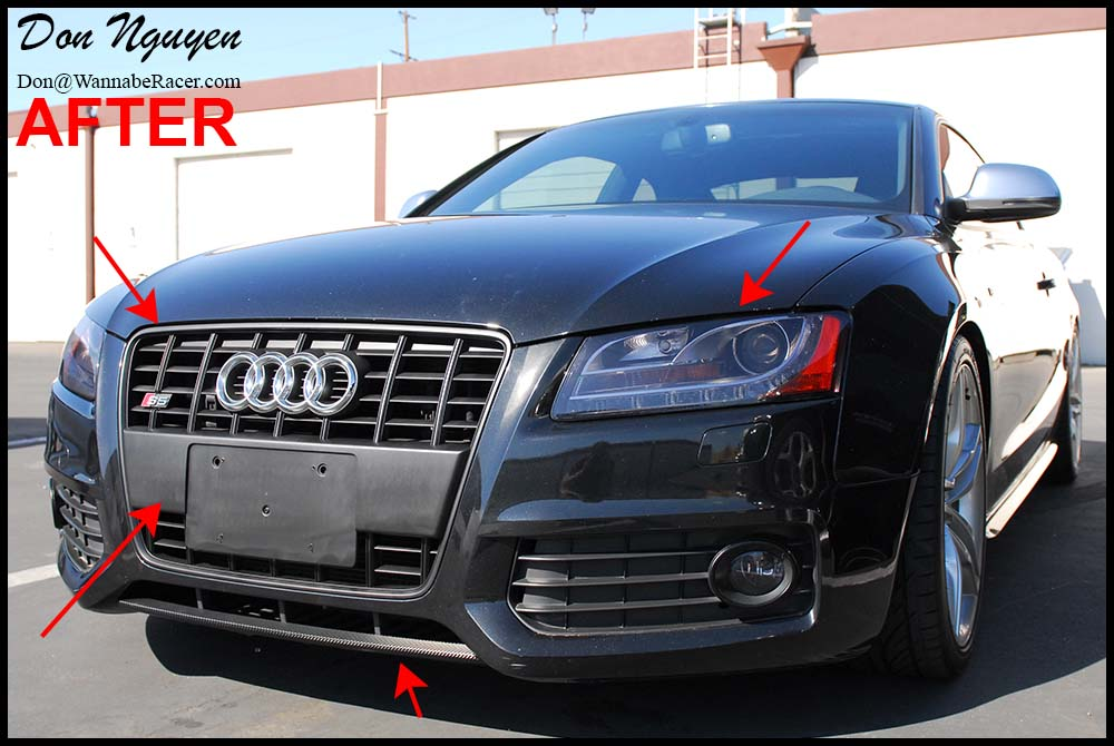 Audi S5 Coupe - Tinted / Smoked Head Lights Vinyl Car Wrap