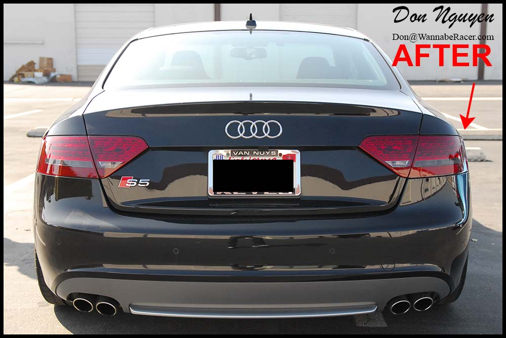 Audi S5 Coupe - Tinted / Smoked Tail Lights Vinyl Car Wrap