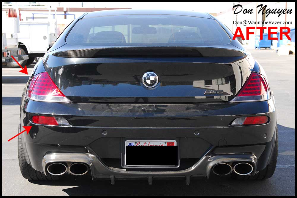 BMW M6 Coupe E63 - Tinted / Smoked Tail Lights Vinyl Car Wrap