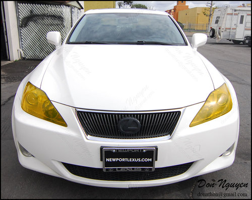Lexus IS250 Sedan - Tinted Yellow Head and Red Tail Lights Vinyl Wrap