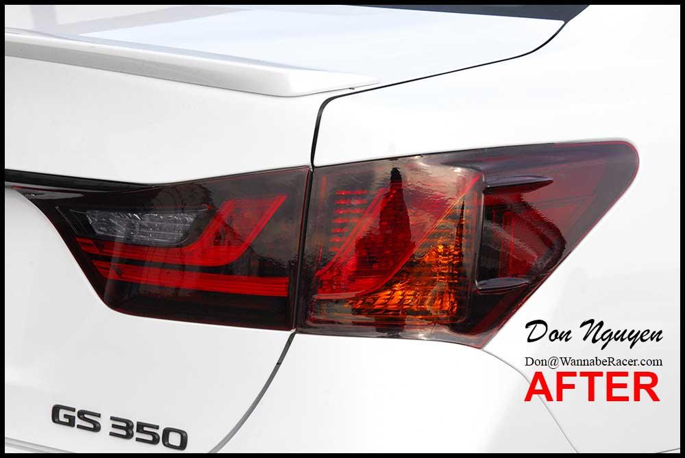 Lexus GS350 F Sport Sedan - Tinted / Smoked Tail Lights Vinyl Car Wrap