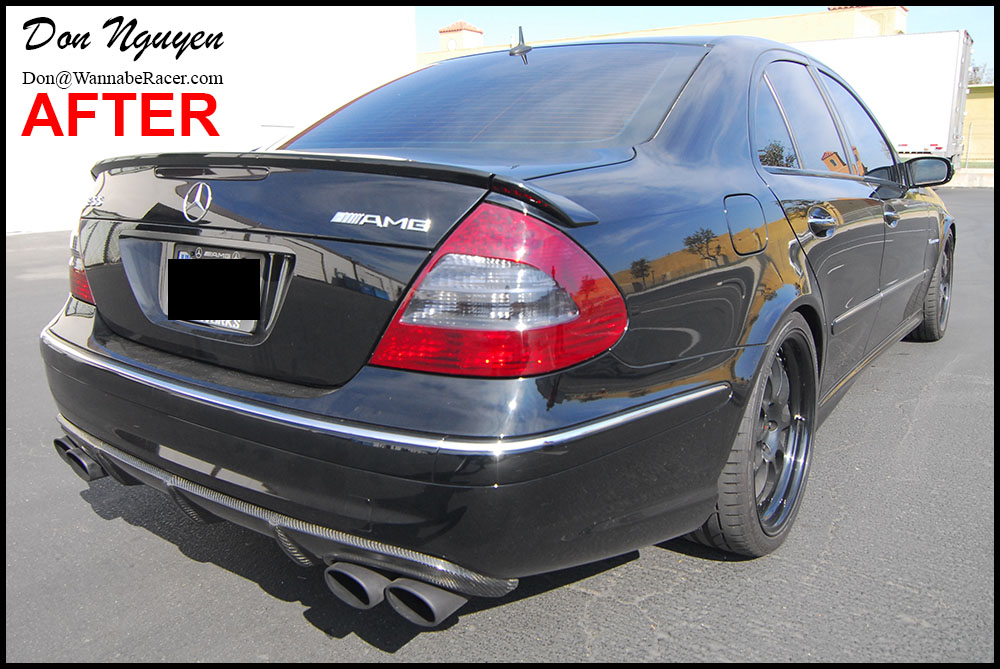 Mercedes Benz E55 AMG - Tinted Tail Lights Car Wrap