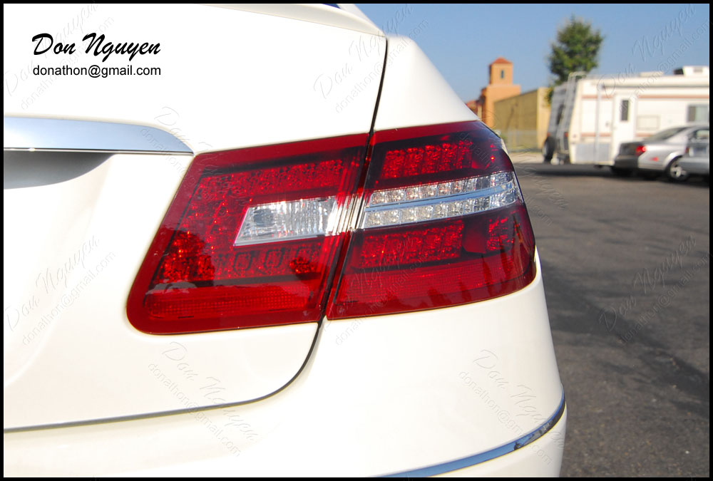 Mercedes Benz E350 Coupe - Smoked / Tinted Rear Tail Light Vinyl Car Wrap