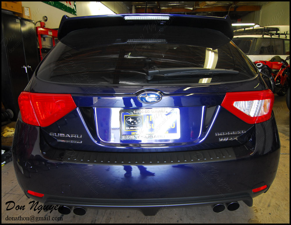 Subaru Impreza WRX Hatchback - Red Tinted Rear Tail Lights Vinyl Car Wrap