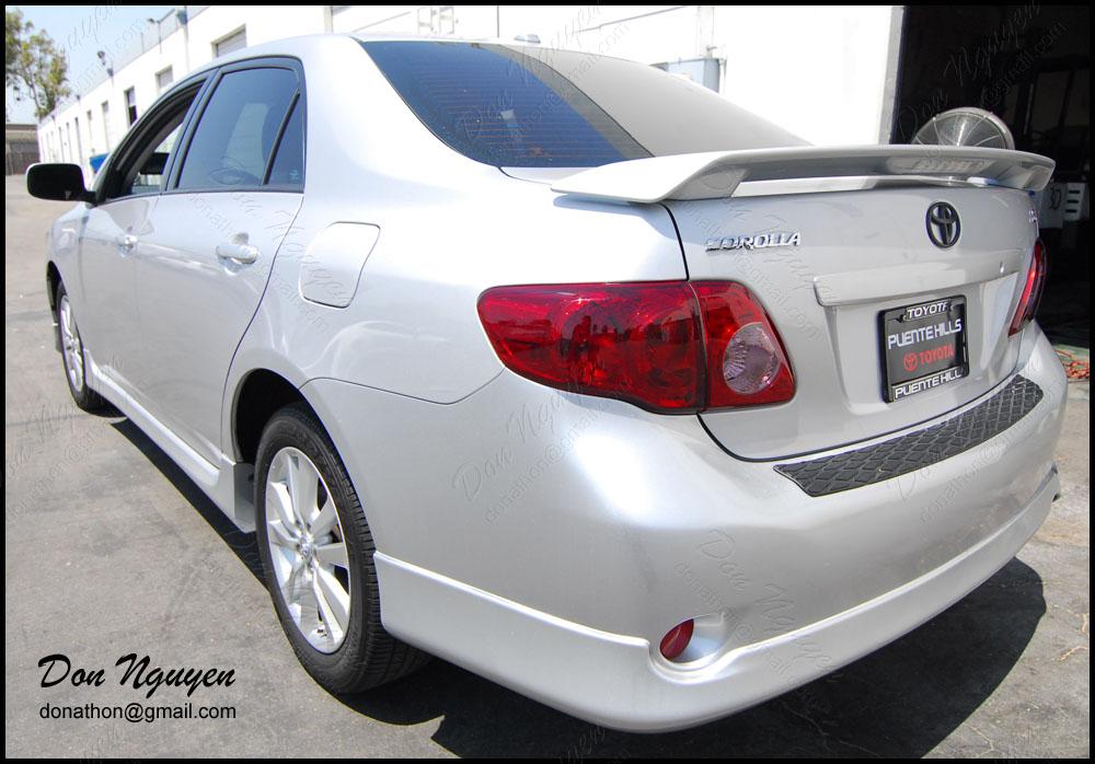 Toyota Corolla S Sedan - Tinted / Smoked Rear Tail Lights Vinyl Car Wrap