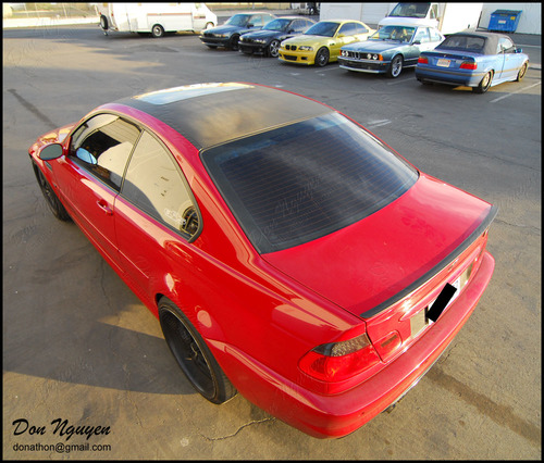 BMW M3 E46 Coupe - Gloss Carbon Fiber Roof Vinyl Car Wrap