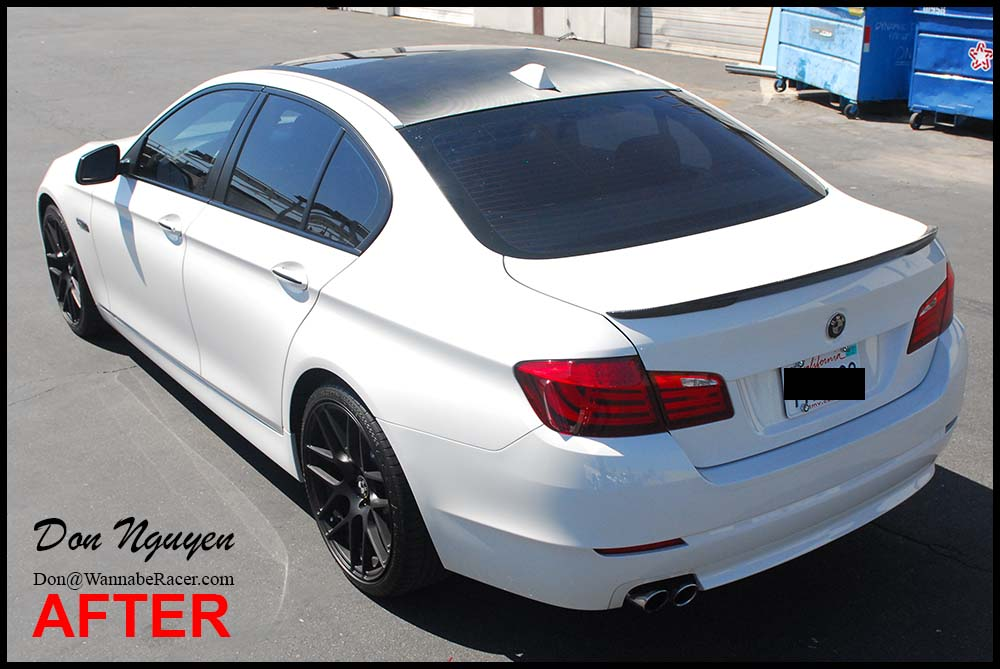 BMW F10 535 Sedan - Gloss Carbon Fiber Roof Vinyl Car Wrap