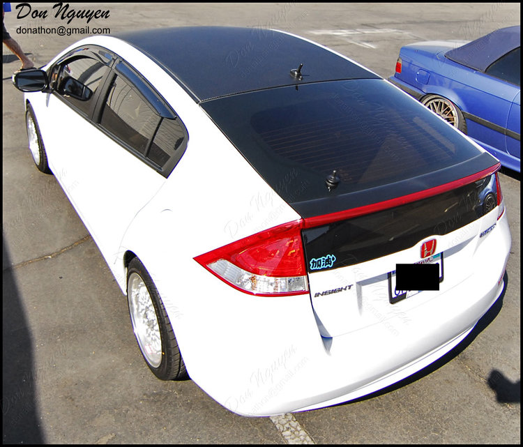 Honda Insight Coupe - 3M Matte Carbon Fiber Roof Vinyl Car Wrap