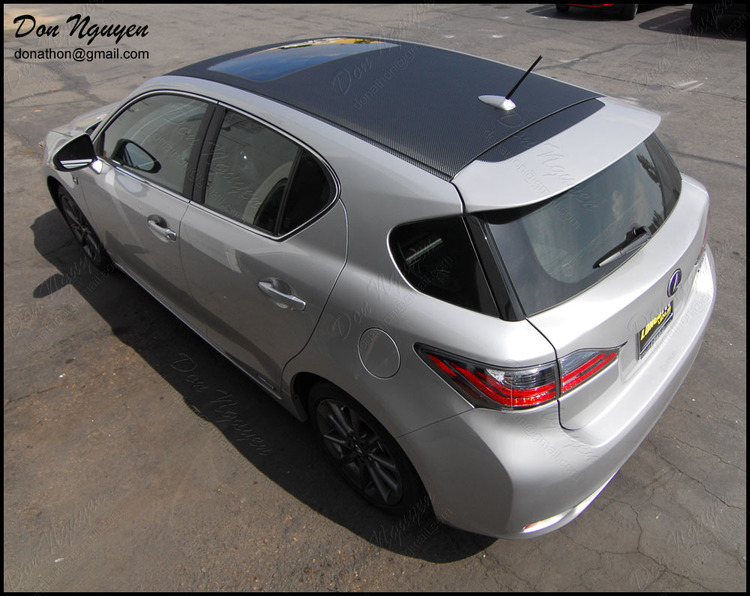 Lexus CT200h Wagon - Matte Carbon Fiber Roof Vinyl Car Wrap