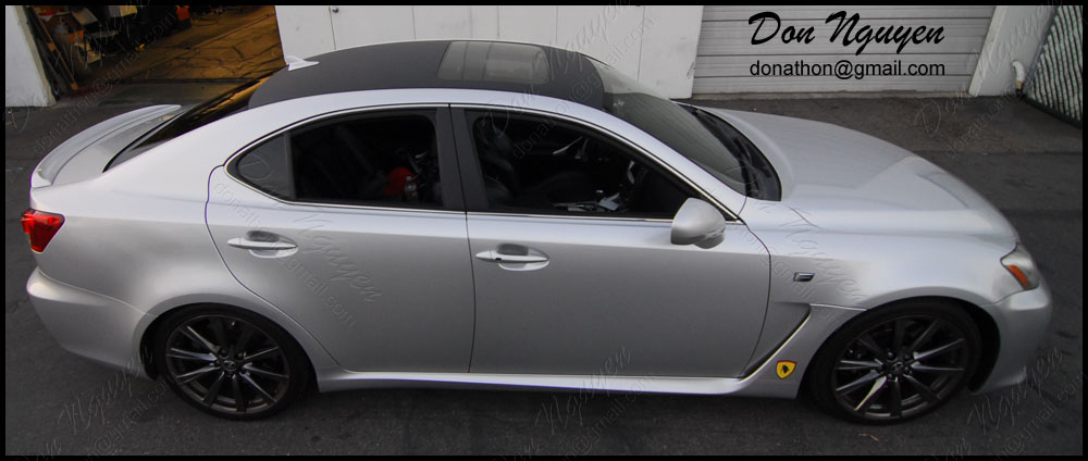 Lexus ISF Sedan - Matte Carbon Fiber Roof Vinyl Car Wrap