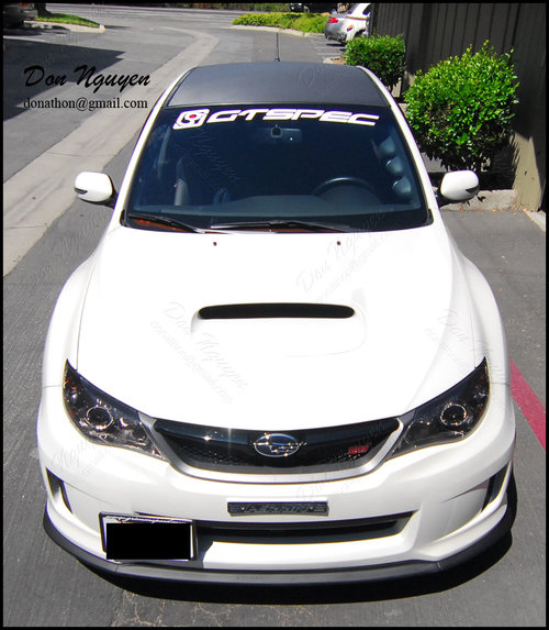 Subaru STI Sedan - 3M Di-noc Matte Carbon Fiber Roof Vinyl Car Wrap