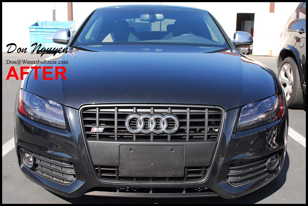 Audi S5 Coupe - Matte Black Front Grill Plasti Dip