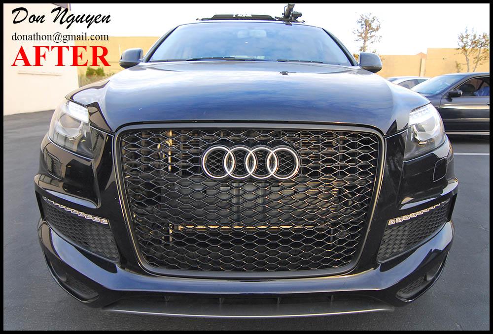 Audi Q7 SUV - Matte Black Grill Plasti Dip