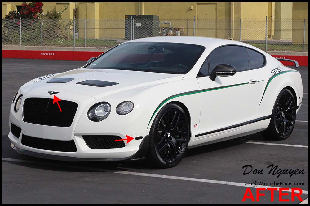 Bentley Continental GT3-R - Plasti Dip Front and Rear Badge Emblems