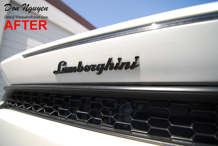Lamborghini Hurrican - Plasti Dip Badges and Bumper Reflectors