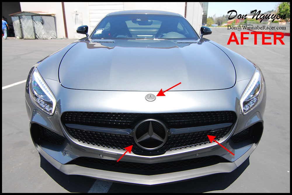 Mercedes GTS AMG Coupe - Plasti Dip Badges, Emblems and Front Grill