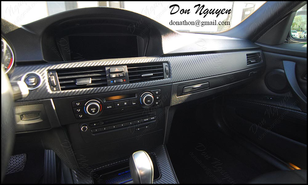 BMW E92 335i Coupe - Matte Carbon Fiber Interior Vinyl Wrap