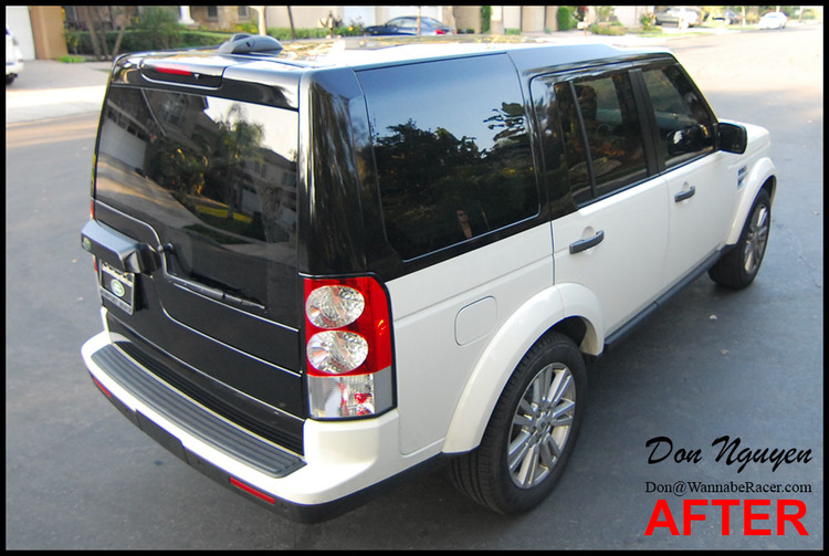 Land Rover LR4 HSE - Gloss Black Top Half Vinyl Car Wrap