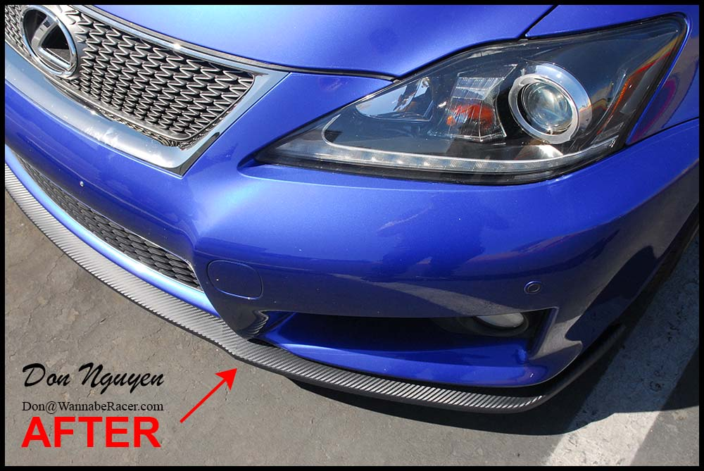 Lexus IS F Sedan - Matte Carbon Fiber Front Lip Vinyl Car Wrap