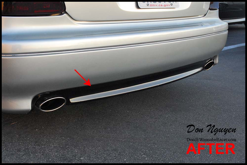 Lexus GS300 Sedan - Gloss Black Lower Rear Bumper Vinyl Car Wrap
