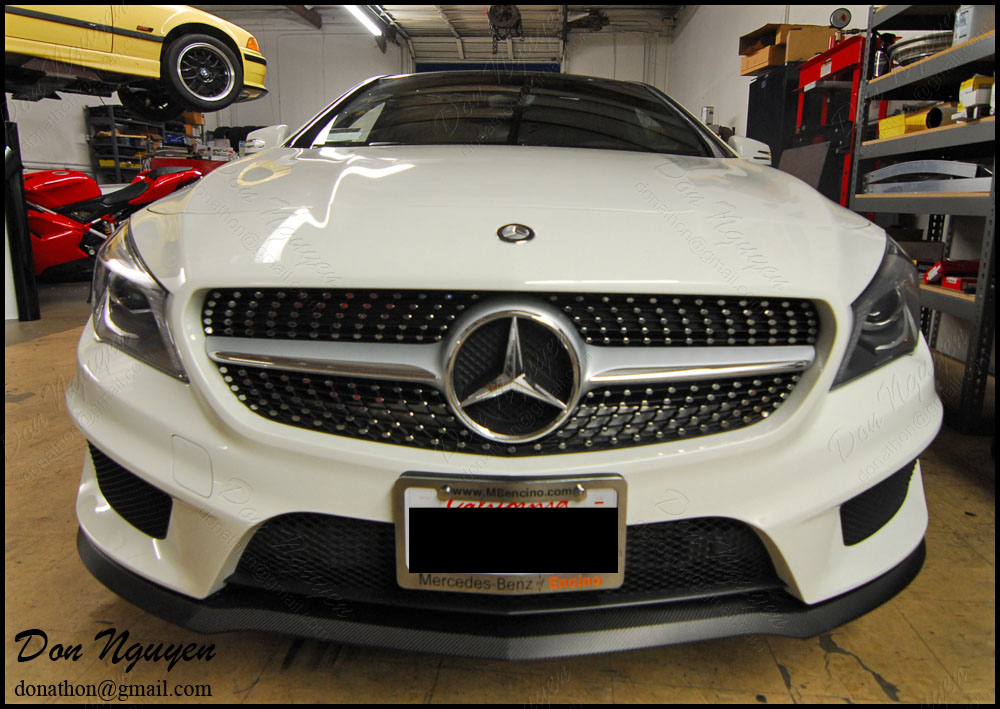 Mercedes Benz CLA250 - 3M Gloss Carbon Fiber Front Lip Vinyl Wrap