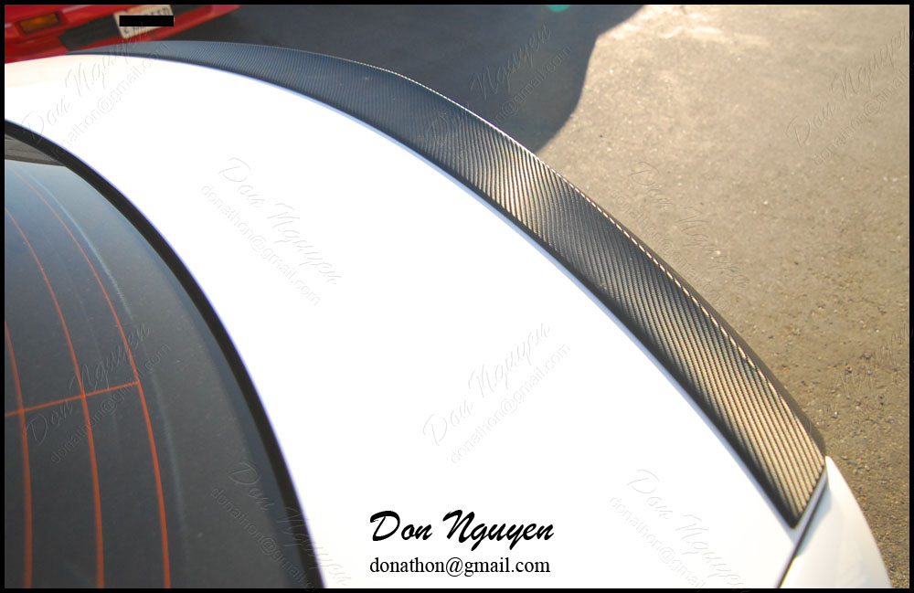 Mercedes Benz C250 Coupe - 3M Gloss Carbon Fiber Rear Spoiler Vinyl Wrap