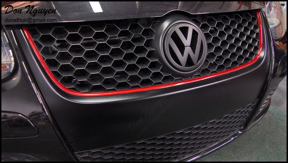 VW Golf GTI MkV - Matte Black Grill Vinyl Car Wrap