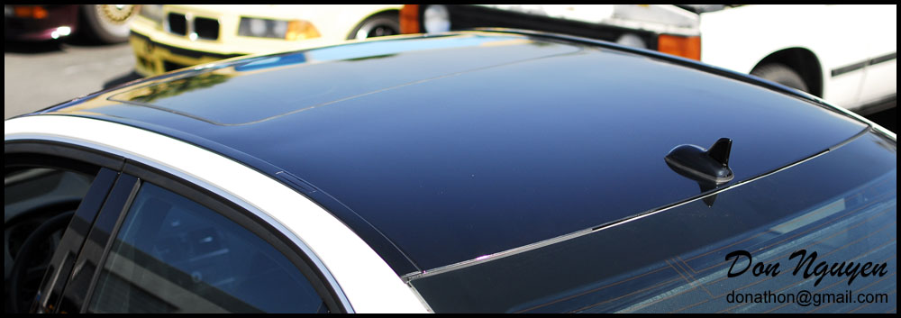 Mercedes Benz C350 Sedan - Gloss Black Vinyl Roof Wrap