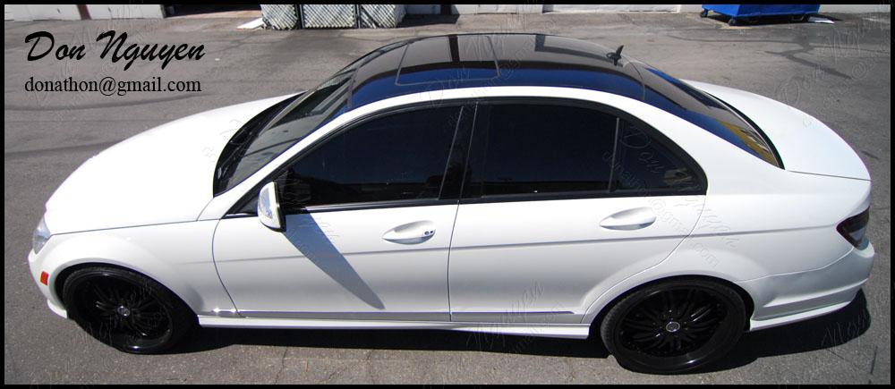Mercedes Benz C300 Sedan - Gloss Black Roof Vinyl Car Wrap