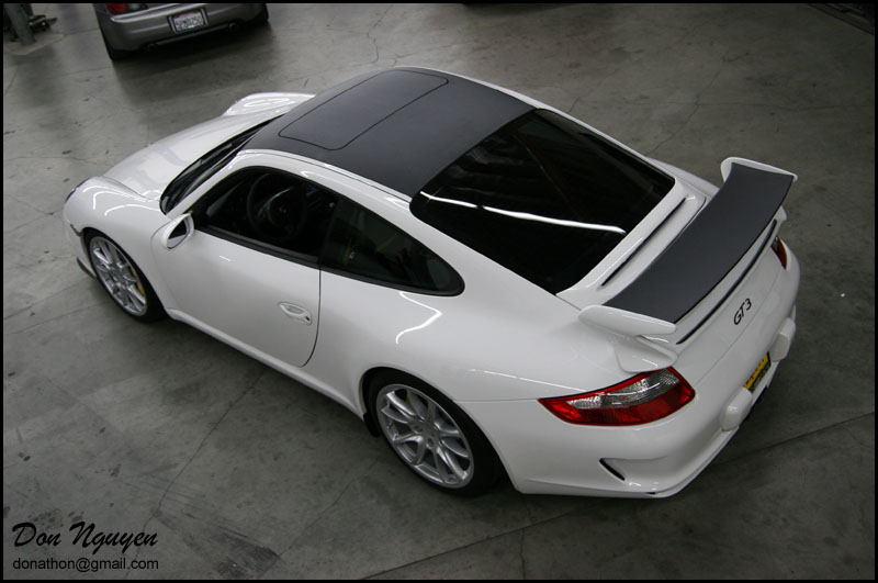 Porsche 997 GT3 - Matte Carbon Fiber Vinyl Roof and Spoiler Wrap