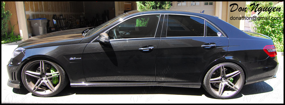 Mercedes Benz C63 Sedan - Gloss Black Window Trim Vinyl Car Wrap