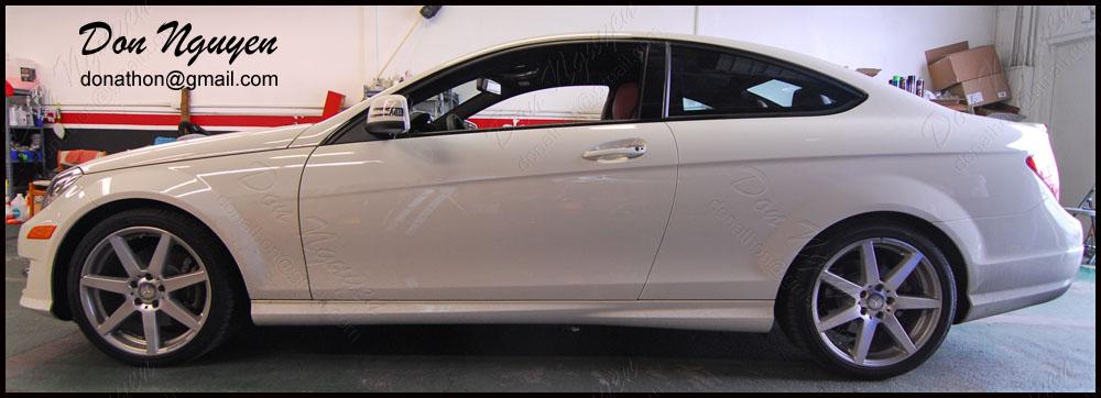 Mercedes Benz C350 Coupe - Gloss Black Window Trim Vinyl Car Wrap