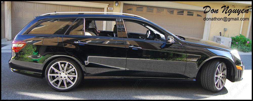 Mercedes Benz E63 Touring Wagon - Matte Black Window Trim Vinyl Car Wrap