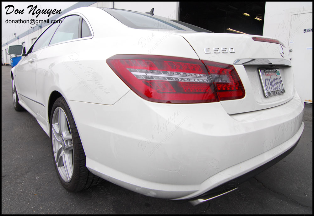 Mercedes Benz E550 Coupe - Tinted / Smoked Tail Lights Vinyl Car Wrap