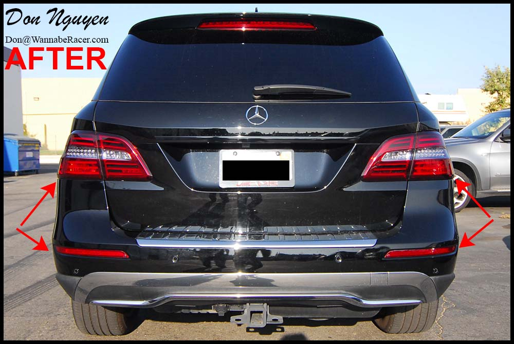 Mercedes ML350 Diesel SUV - Tinted Tail Lights Car Wrap
