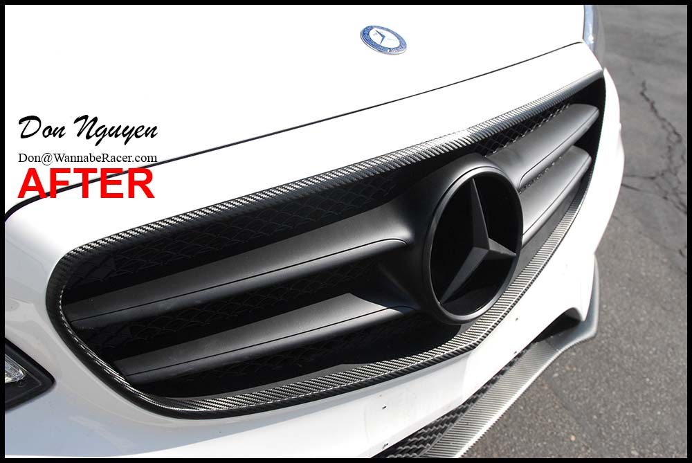 Mercedes Benz E350 Sedan - 3M Gloss Carbon Fiber Chrome Trim and Spoiler Vinyl Car Wrap