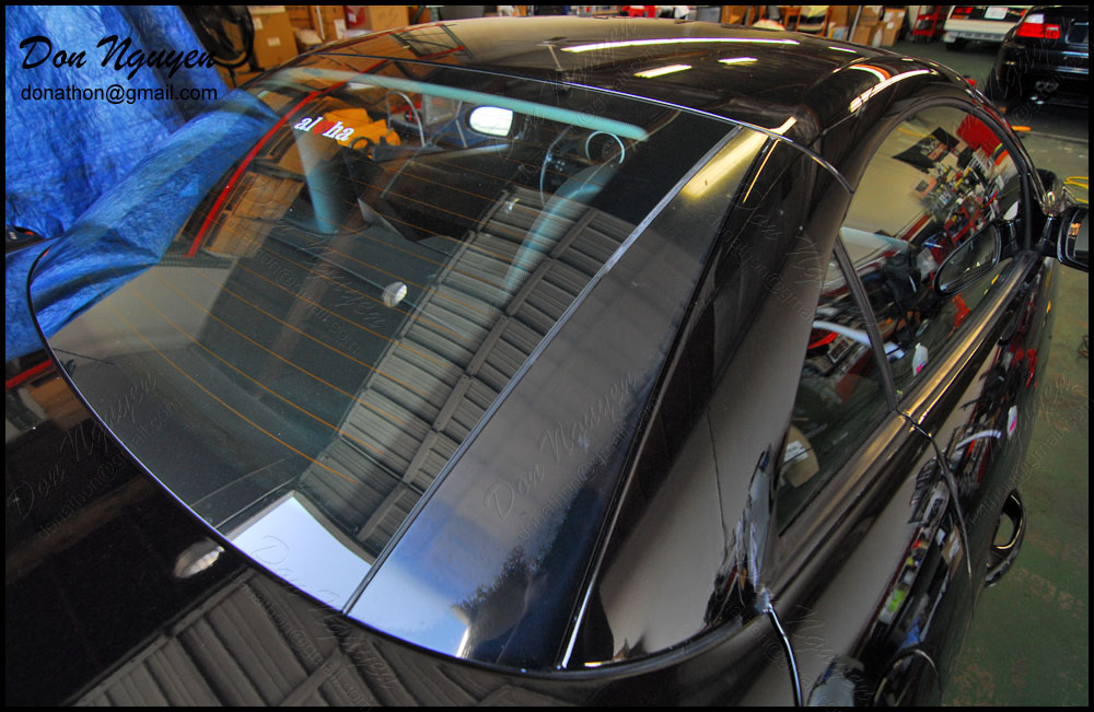 Mercedes SLK 250 Roadster - Matte Carbon Fiber Trim Vinyl Car Wrap
