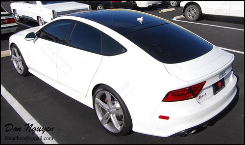 Audi RS7 Sedan - Gloss Black Vinyl Roof Wrap