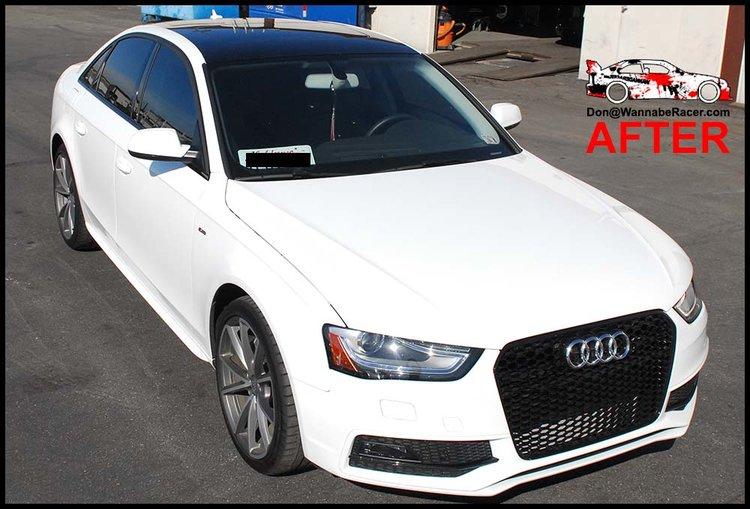 Audi B8 A4 Sedan - Gloss Black Roof Vinyl Car Wrap