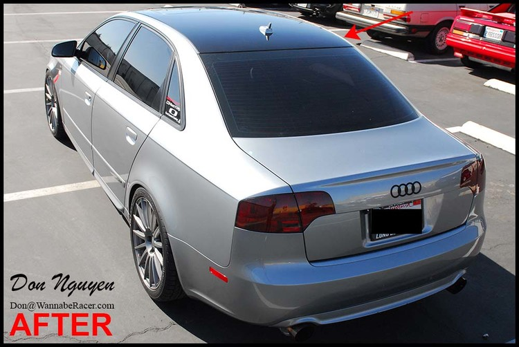 Audi A4 B7 Sedan - Gloss Black Roof Vinyl Car Wrap