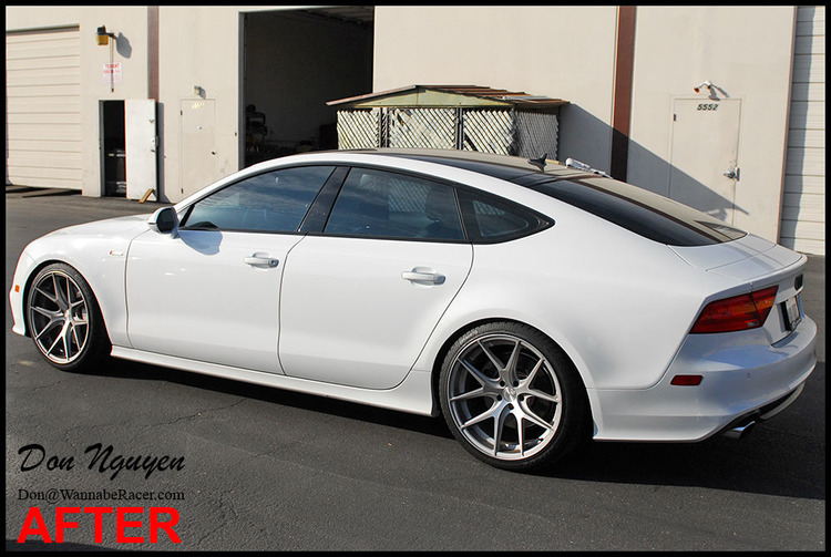 Audi A7 Sedan - Gloss Black Window Trim Vinyl Car Wrap