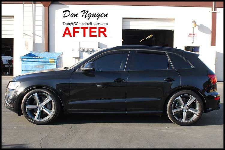 Audi Q5 SUV - Gloss Black Trim & Tinted Tail Lights Vinyl Car Wrap
