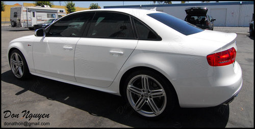 Audi B8 A4 Sedan - Matte Black Window Trim Vinyl Car Wrap