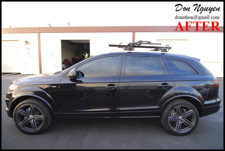 Audi Q7 SUV - Matte Black Window Trim Car Vinyl Wrap