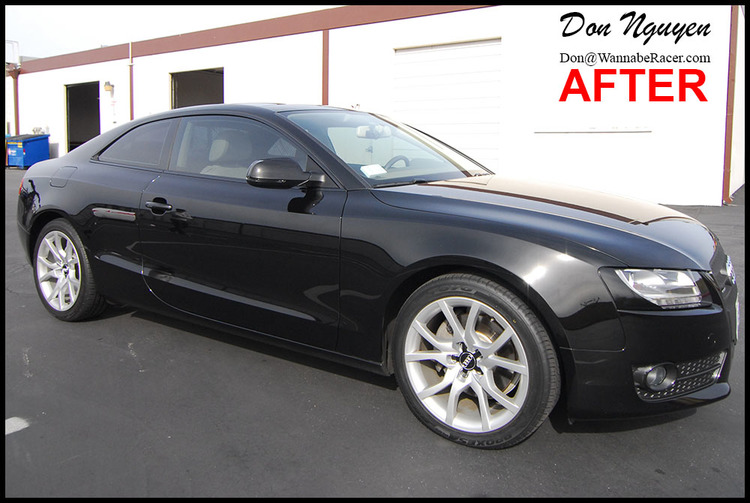 Audi S5 Coupe - Gloss Black Window Trim Vinyl Car Wrap