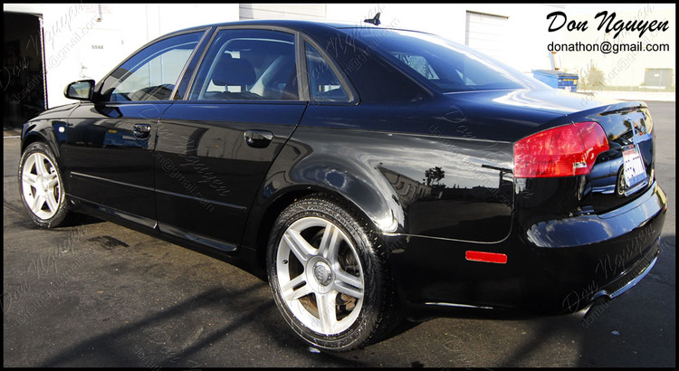 Audi B7 A4 Sedan - Matte Black Window Trim Vinyl Wrap