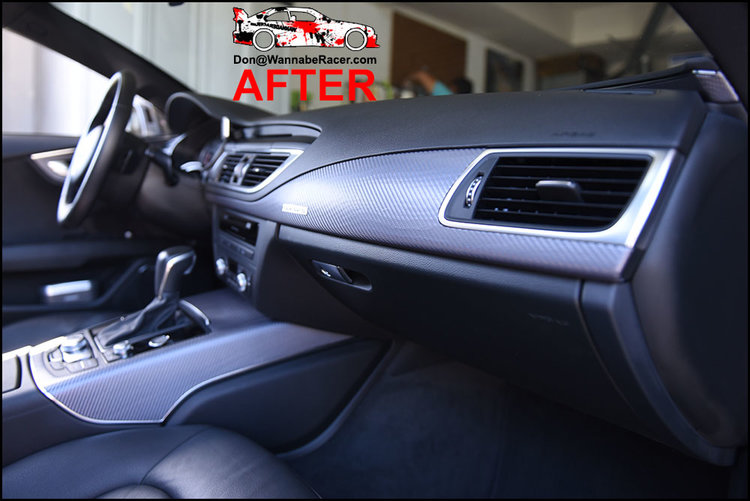 Audi A7 Sedan - 3M 1080 Anthracite Carbon Fiber Interior Vinyl Car Wrap