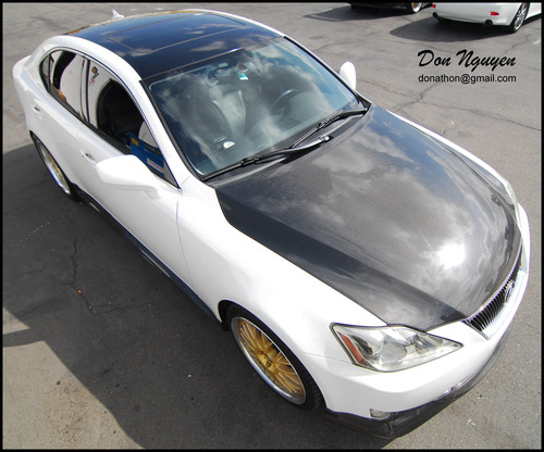 Lexus IS350 Sedan - Gloss Black Roof Vinyl Car Wrap