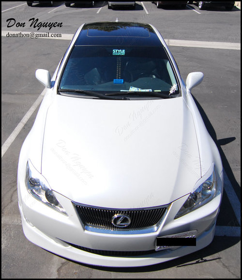 Lexus IS250 Sedan - Gloss Black Roof Vinyl Car Wrap