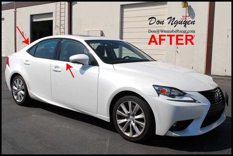 Lexus IS250 Sedan - Gloss Black Window Trim and Grill Vinyl Car Wrap